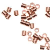 Genuine Copper Crimp Beads 2 x 2mm (x50)