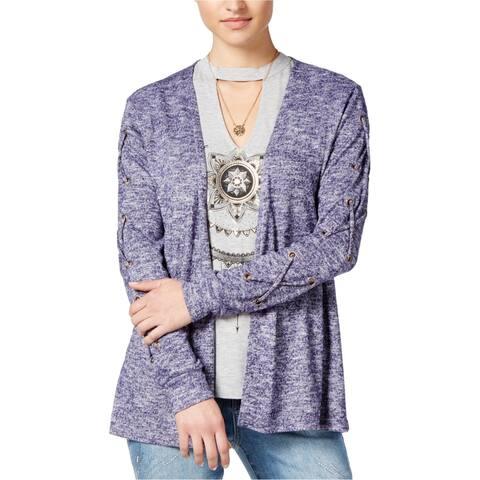 Self E Womens Lace-Up Cardigan Sweater