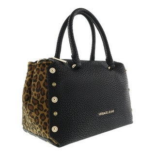 Versace EE1VQBBM1 EMHX Black/Leopard Satchel Bag - 13-7-4