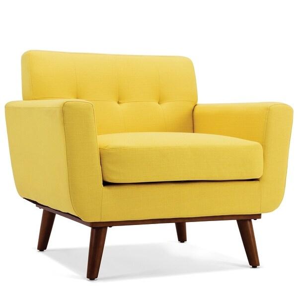 Shop Belleze Mid Century Isaiah Tufted Accent Arm Chair