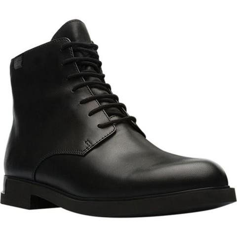 Camper Women's Iman Waterproof Boot Black Smooth Leather