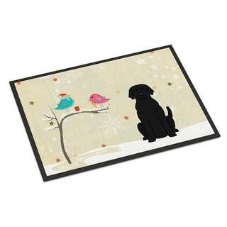 Carolines Treasures BB2529JMAT Christmas Presents Between Friends Black Labrador Indoor or Outdoor Mat 24 x 0.25 x 36 in.