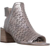 Vince Camuto Sternat Perforated Block Heel Boots, Sandy Silver