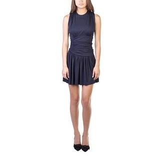 Miu Miu Women's Viscose Ruffled Dress Navy - S
