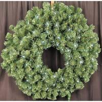 Christmas at Winterland WL-GWSQ-03-LPW 3 Foot Pre-Lit Pure White LED Sequoia Wreath