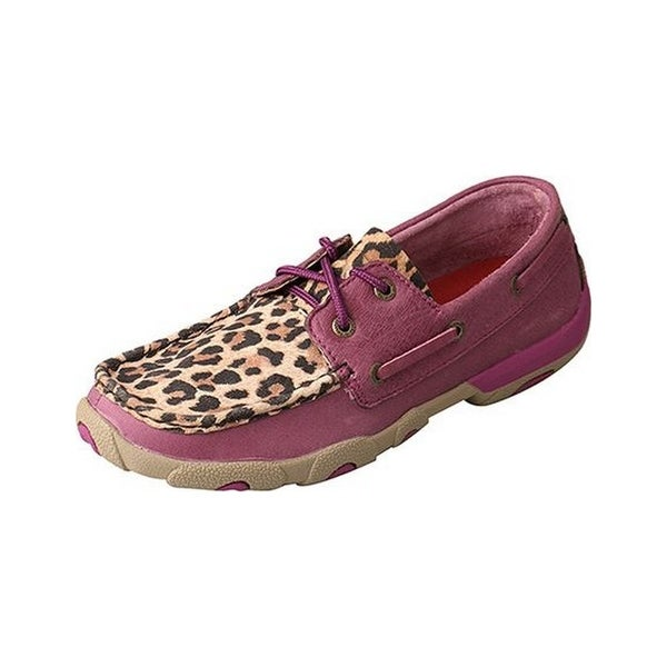 Twisted X Casual Shoes Womens Lace Red Buckle Purple Leopard