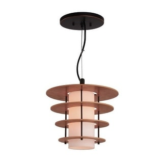 Woodbridge Lighting 14823-DS1WCH 1 Light Full Sized Single Pendant with Frosted Glass Shades from the Layers Collection