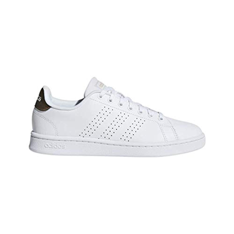 Adidas Women'S Cloudfoam Advantage Shoe Sneaker, White/Copper Metallic, 8 M Us