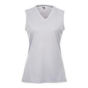 B-Core Women's Sleeveless T-Shirt - Silver - XL
