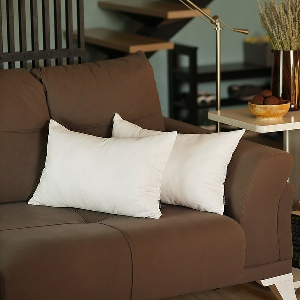 Solid Color Decorative Lumbar Throw Pillow Covers (2 pcs in set). Opens flyout.