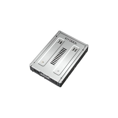 Icy Dock MB982IP-1S-1 Icy Dock MB982IP-1S-1 Drive Bay Adapter Internal - Silver - 1 x Total Bay - 1 x 2.5 Bay
