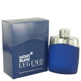 MontBlanc Legend by Mont Blanc Eau De Toilette Spray (Special Edition-Blue) 3.4 oz - Men