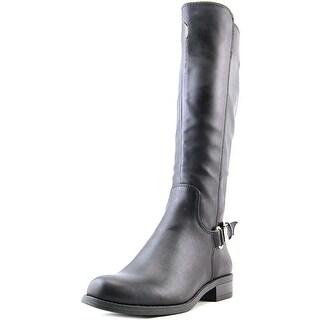 Alfani Jarabina wide calf Women Round Toe Synthetic Black Knee High Boot
