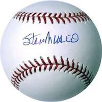Stan Musial signed Official Rawlings Major League Baseball Musial Hologram Cardinals