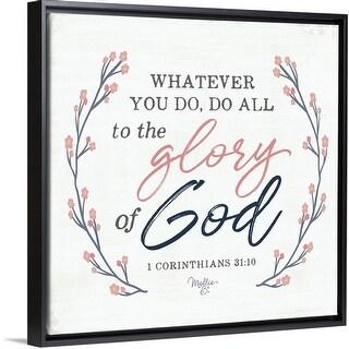 """Glory of God"" Black Float Frame Canvas Art"