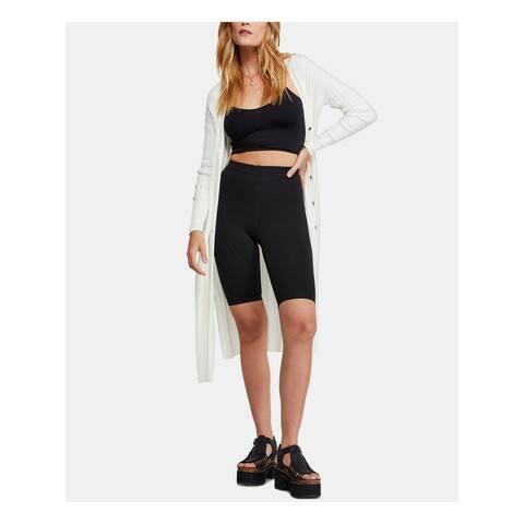 FREE PEOPLE Womens White Long Sleeve Open Cardigan Sweater Size XL