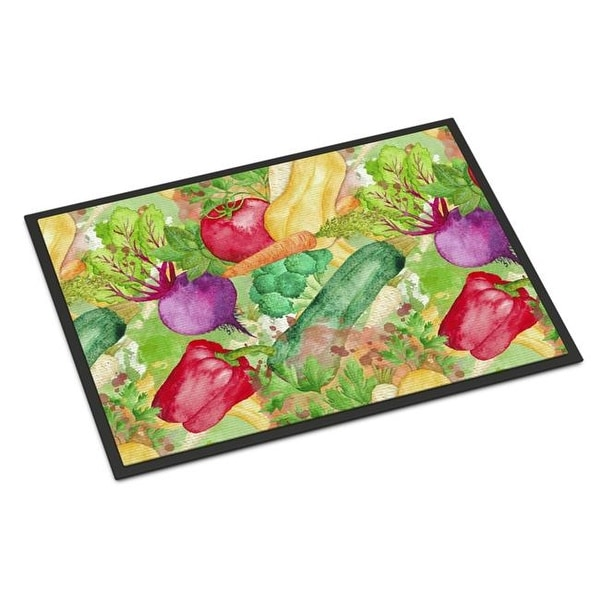 watercolor vegetables farm to table indoor or outdoor mat 24 free
