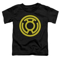 Green Lantern-Yellow Emblem Short Sleeve Toddler Tee, Black -