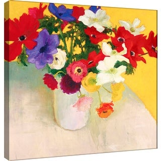 """PTM Images 9-99997  PTM Canvas Collection 12"""" x 12"""" - """"July Floral"""" Giclee Ranunculus Art Print on Canvas"""