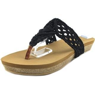 Groove Talia Open Toe Canvas Thong Sandal