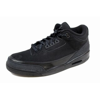 Nike Men's Air Jordan III 3 Retro Black/Dark Charcoal Black Cat 136064-002