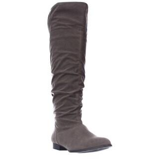 SC35Tiriza Slouch Knee High Boots - Mushroom