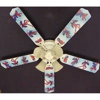 Children's 52in Ceiling Fan Light Spiderman Blade Kit - Multi