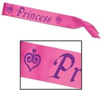 """Club Pack of 6 Pink and Purple """"Princess"""" Sashes 27"""" x 3.5"""""""