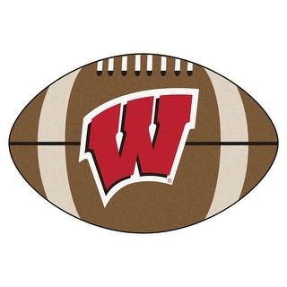 "University of Wisconsin Football Rug 22""x35"""