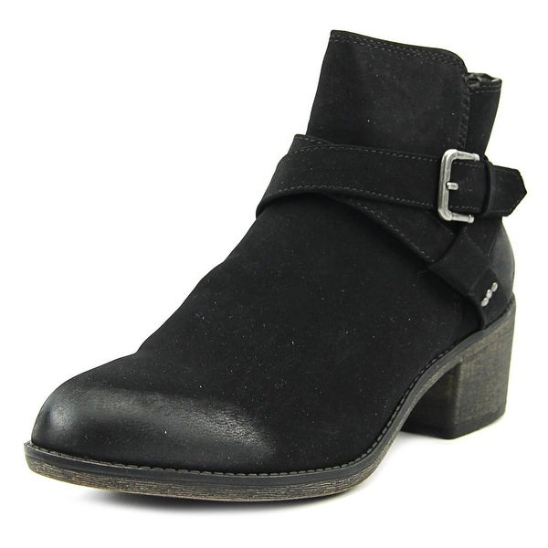 White Mountain Yandra Women Round Toe Synthetic Black Ankle Boot