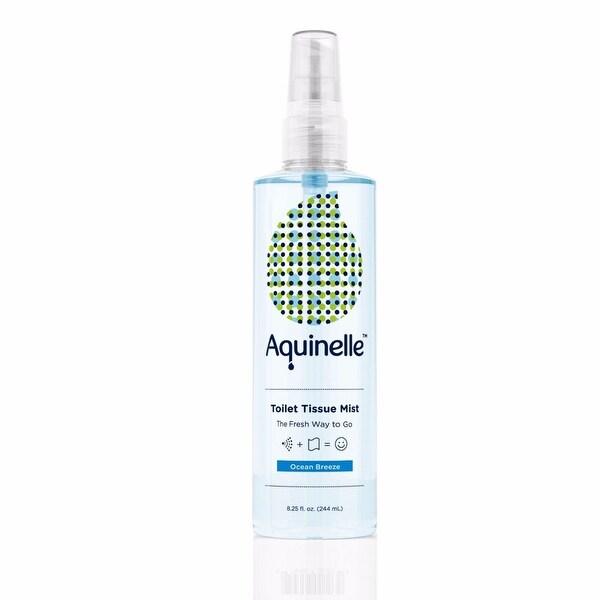 Aquinelle Toilet Tissue Mist, Simply Spray On Folded Toilet Paper, 8.25 OZ, Ocean Breeze
