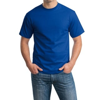 Hanes TAGLESS 6.1 Short Sleeve Tee (Color : Royal Blue), Large