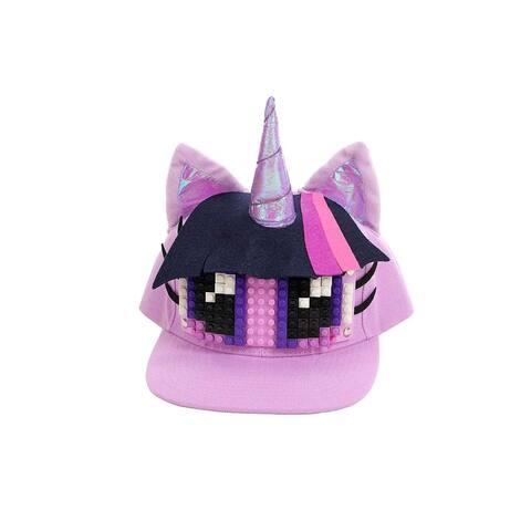 My Little Pony Twilight Sparkle Bricky Blocks Build On Snapback Hat - Purple