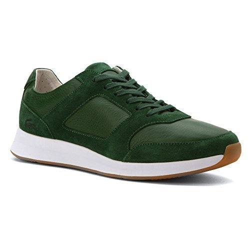 Lacoste Men's Joggeur 216 1 Sneaker,Dark Green Leather/Suede,US 12 M