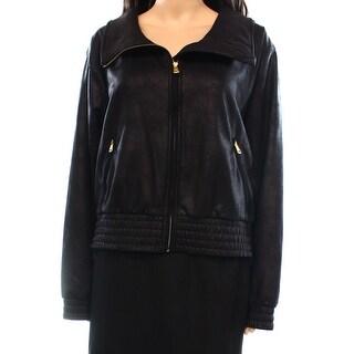 Lauren Ralph Lauren NEW Black Women's Size Large L Bomber Jacket