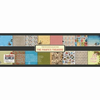 "Scrapberry's The Pirate's Treasure Paper Pack 12""X12"" 16/Pkg-8 Double-Sided Designs/2 Each"