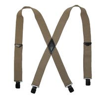 Realtree Men's Elastic Solid Color Clip-End Suspenders