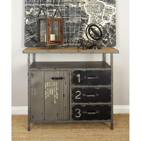 Grey Iron Industrial Cabinet 32 x 36 x 17