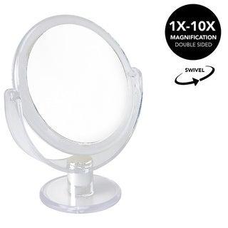 Home Details Round Vanity Makeup Mirror, 10x Magnification, Clear - N/A