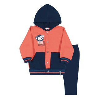 Baby Boy Outfit Hoodie Jacket and Pants Set Pulla Bulla Sizes 3-12 Months (5 options available)