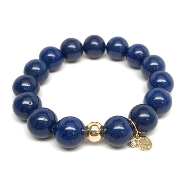 """Blue Jade Lauren 7"""" Bracelet"""