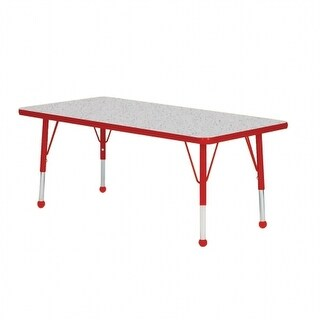 Mahar Manufacturing N2436GT-SB 24 x 36 in. Rectangle Activity Table with Gray Nebula & Graphite Edge - Standard Leg Ball Glides