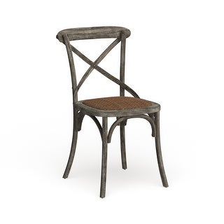 Link to Safavieh Franklin X-Back Weathered Grey Oak Dining Chair (Set of 2) Similar Items in Dining Room & Bar Furniture