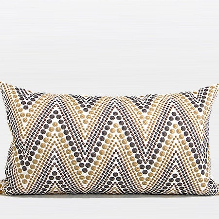 """G Home Collection Luxury Metallic Big Chevron Embroidered Pillow 12""""X20"""""""