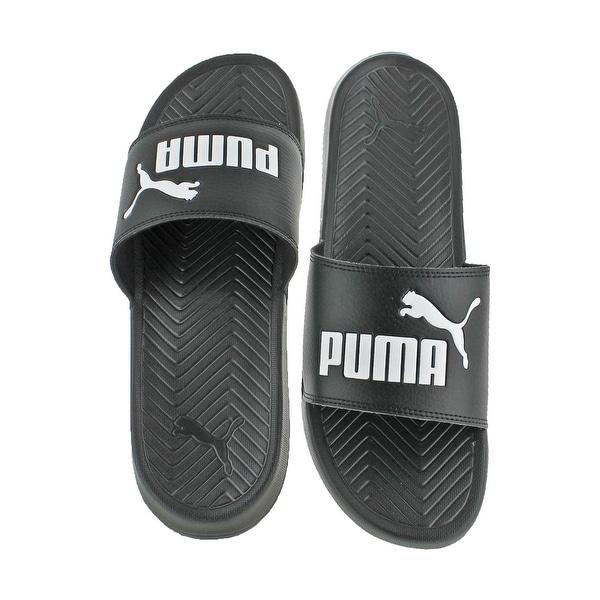 a44c744bff13 Shop Puma Mens Popcat Slide Sandals Lightweight Pool Slide - Free ...