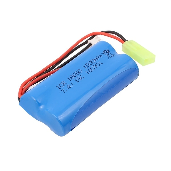 DC 7.4V 1500mAh Recycle Charging Lithium Battery Pack for RC Boat