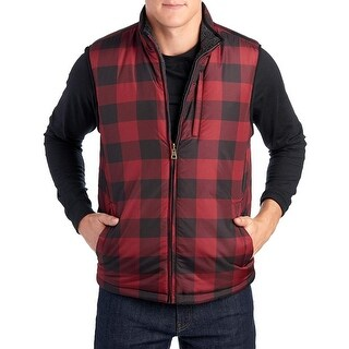 Weatherproof Vintage Men's Reversible Vest Red Plaid