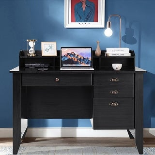 Wooden Computer Writing Desk Office Study Table with Drawers