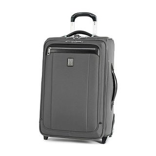 Platinum Magna 2 - 22 Inches - Charcoal Gray 22inch Expandable Rollaboard Suiter - Black