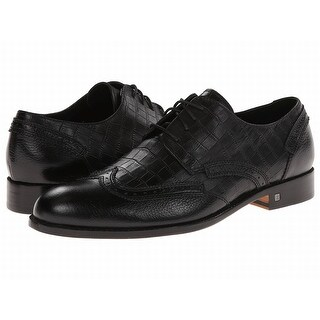 Bugatchi NEW Black Shoes Size 9.5M Oxfords Chopin Leather Formal